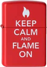 Zippo Keep Calm & Flame On 60001310