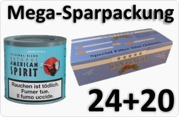 24 Dosen American Spirit + Doppelfilterhülsen
