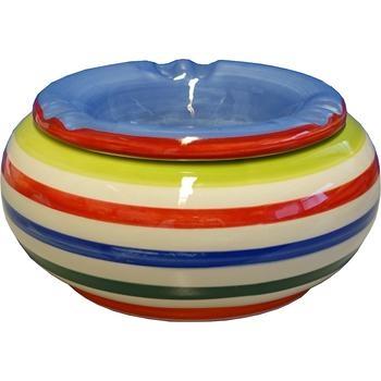 Keramikaschenbecher Ø 12cm Bunt