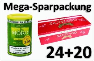 24 Dosen Moro Virginia + 4000 Filterhülsen Santiago