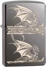 Zippo Black Ice Engr Anne Stokes 60001615