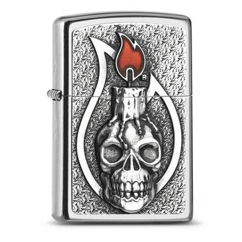 Zippo Pl Candle Skull 2005165