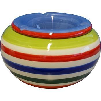 Keramikaschenbecher Ø 14cm Bunt