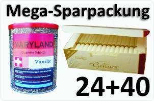 24 Dosen Maryland vanille + 4000 Weisse Filterhülsen