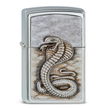 Zippo Reg Green Eyed Cobra 1300109