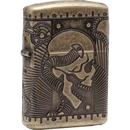Zippo Armor Antique Brass Multicut - 106682