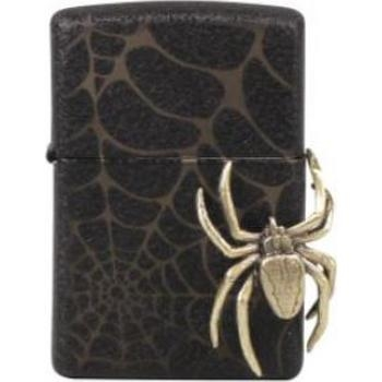 Zippo Black Crackle Spider Black
