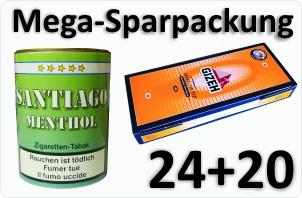 24 Dosen Santiago Menthol + 4000 Silver Tip Aktivkohle
