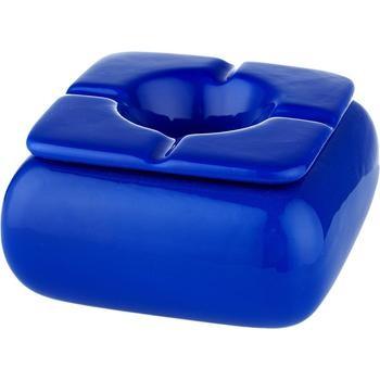 Windaschenbecher eckig Ø 12 cm blau