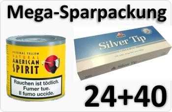 American Spirit Yellow + Silver Tip Aktivkohle