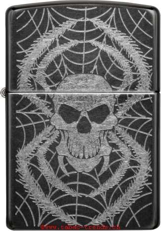 Zippo 60001003 Laser Skull Spider