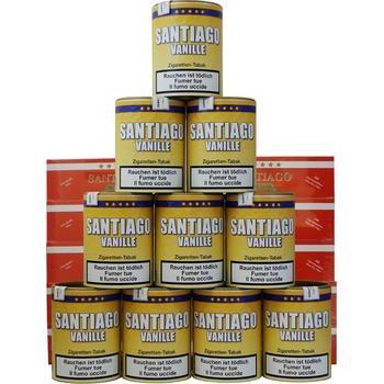 Tabak Santiago Vanille und Filterhülsen Santiago Sparpack