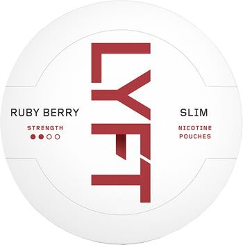 Lyft Ruby Berry Slim All White Snus