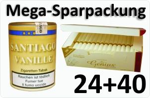 24 Dosen Santiago Vanille + 4000 Weisse Filterhülsen