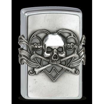 Zippo Skull With Heart 2001330