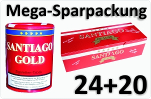 24 Dosen Santiago Gold + 4000 Filterhülsen Santiago