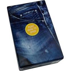 Zigarettenetui Jeans mit Druckknopf