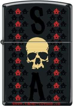 Zippo 60004745 SOA-Skull+Logos