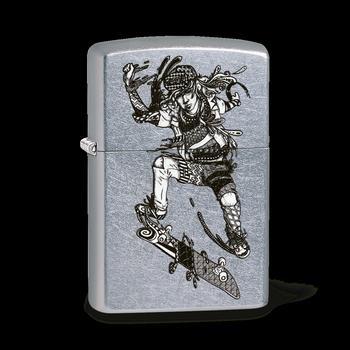 Zippo Zentangle Skateboarder 60003390