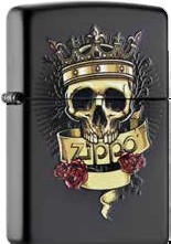 Zippo Skull with Crown 60000983