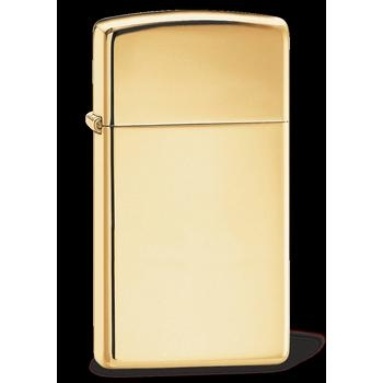 Zippo Brass High Pol Slim 60001177