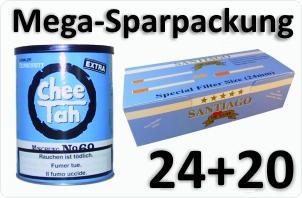 24 Dosen Chee tah blau + 4000 Doppelfilterhülsen