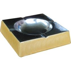 Aschenbecher Aluminium Creme
