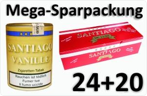 24 Dosen Santiago Vanille + 4000 Filterhülsen Santiago