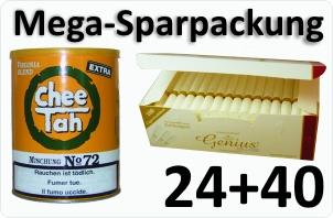 24 Dosen Chee tah gelb + 4000 Weisse Filterhülsen