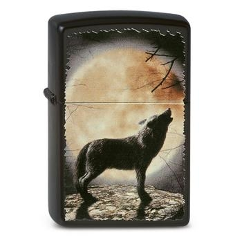 Zippo Wolf Howling to the Moon 60001355