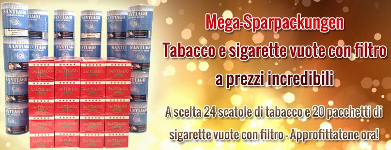 Tabbacco e filtri Mega Sparpackungen