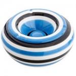 Mega Keramikascher blau weiss
