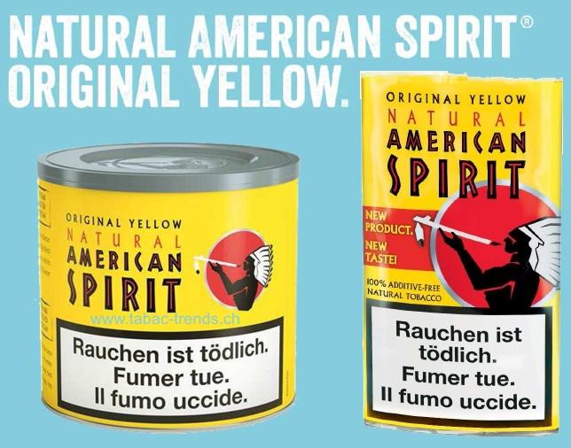 natural american spirit yellow boutique en ligne de tabac cigarettes. Black Bedroom Furniture Sets. Home Design Ideas