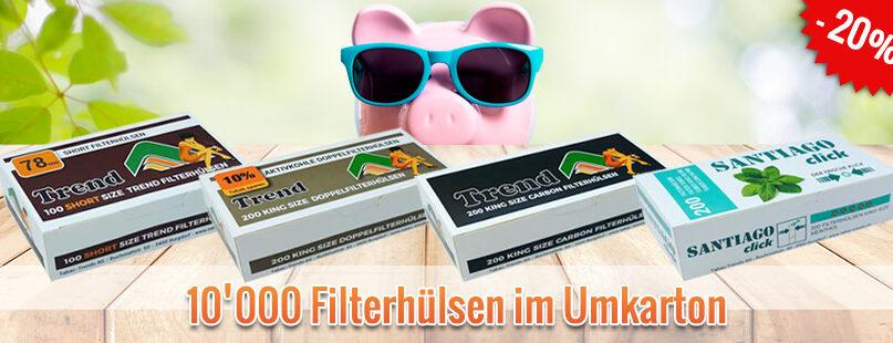 10'000 Filterhülsen im Umkarton