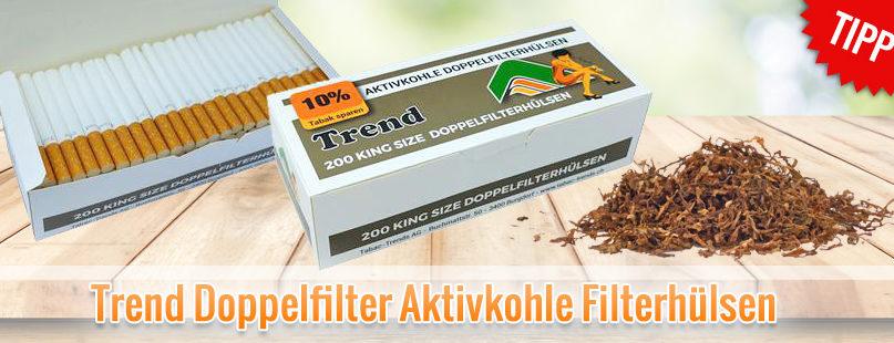 Trend Doppelfilter Aktivkohle Filterhülsen