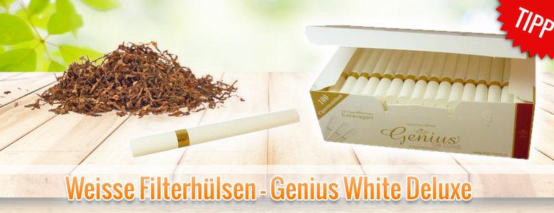 Weisse Filterhülsen - Genius White Deluxe