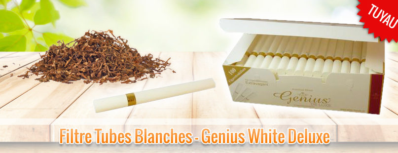 Filtre Tubes Blanches - Genius White Deluxe