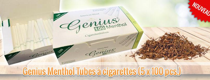 Genius Menthol Tubes à cigarettes