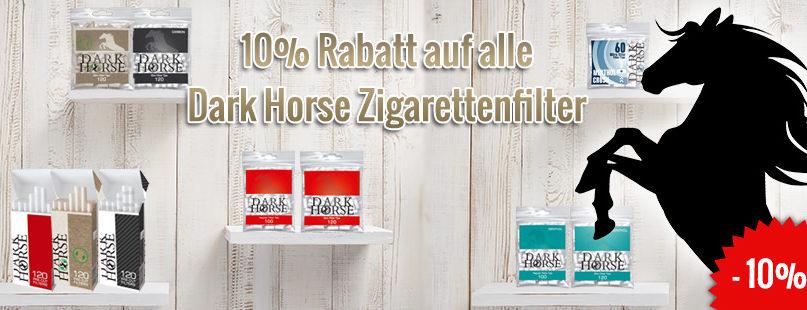 10% Rabatt auf alle Dark Horse Zigarettenfilter