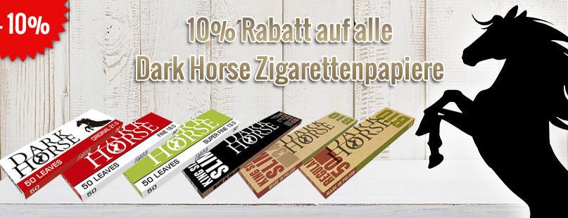 10% Rabatt auf alle Dark Horse Zigarettenpapiere