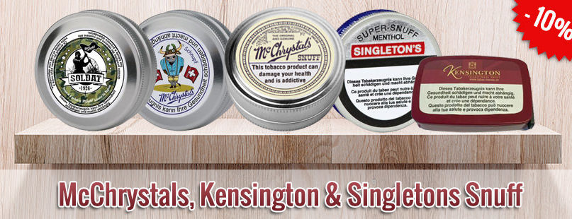10% McChrystals, Kensington & Singletons Snuff