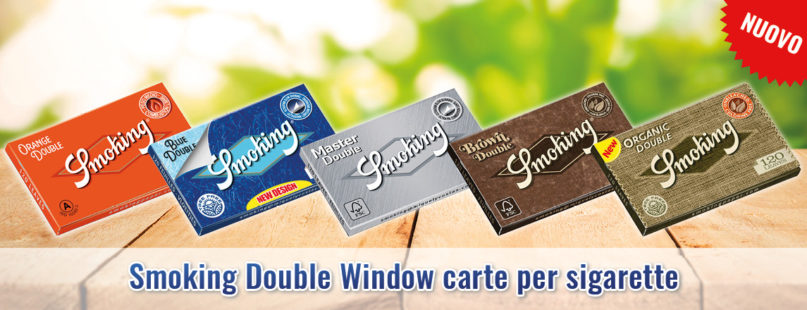 Smoking Double Window carte per sigarette