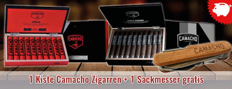 1 Kiste Camacho Zigarren + 1 Sackmesser gratis