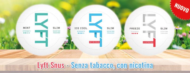 Lyft Snus - Senza tabacco, con nicotina