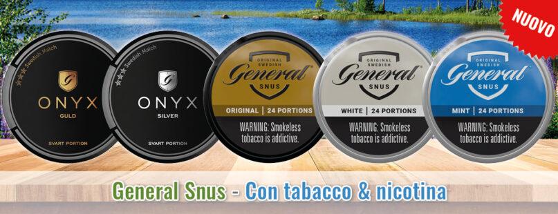 General Snus - Con tabacco e nicotina
