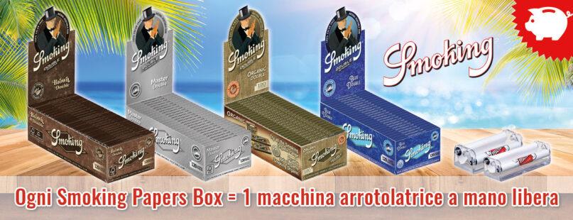 Ogni Smoking Papers Box = 1 macchina arrotolatrice a mano libera