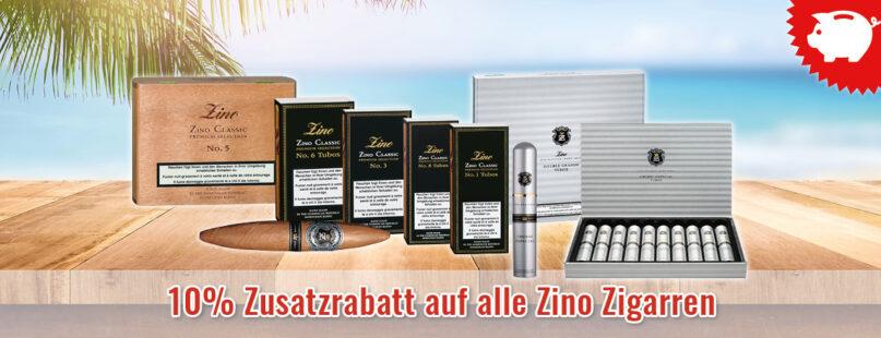 10% Zusatzrabatt auf alle Zino Zigarren