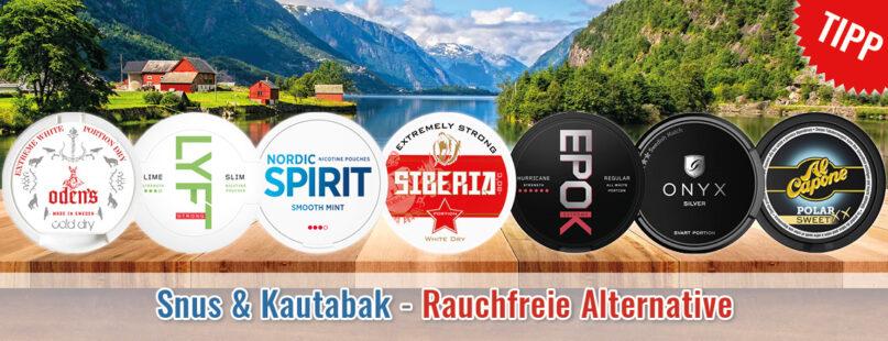 Snus & Kautabak - Rauchfreie Alternative