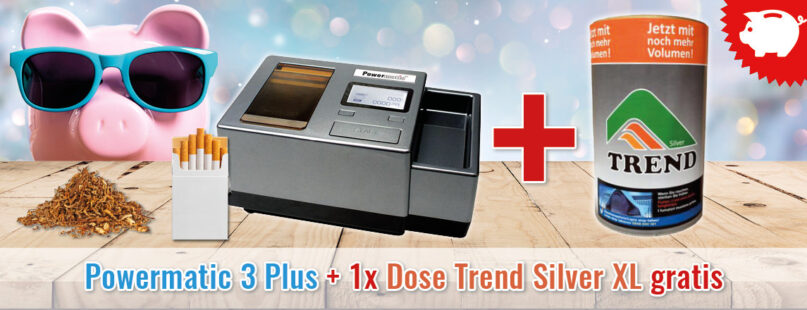 Powermatic 3 Plus +1x Dose Trend Silver XL gratis