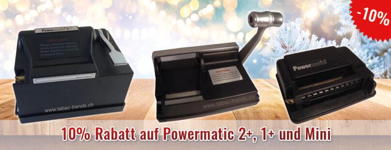 10% Rabatt auf Powermatic 2+, 1+ und Mini